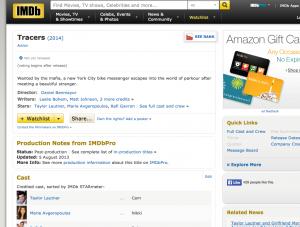 Tracers IMDB